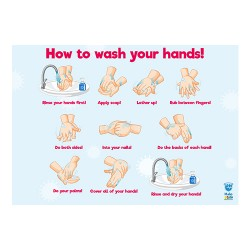 POSTER A3 WASH HAND,PROTECT...