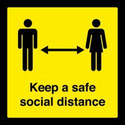 SOCIAL DISTANCING FLOOR...